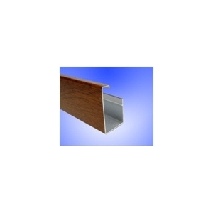 horní  profil ISOLINE imitace dřeva